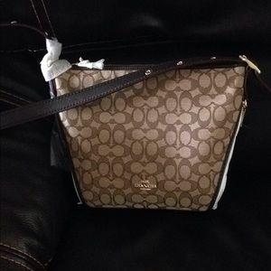 New tags Coach handbag purse dufflette brown Macy